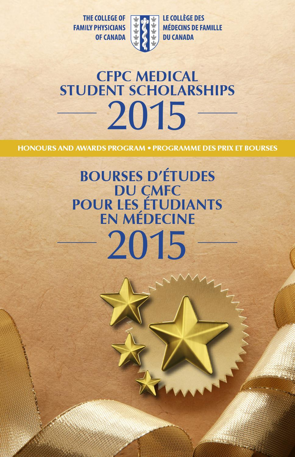 2015 CFPC Medical Student Scholarships Recipients by ...