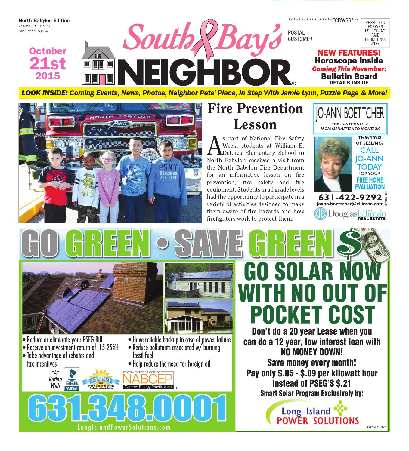 October 21, 2015 North Babylon by South Bay's Neighbor Newspapers