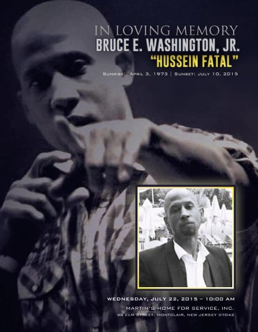 Bruce Washington, Jr , aka Hussein Fatal Program by