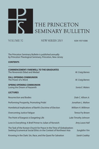 4dcad4969b9 Princeton Seminary Bulletin by Princeton Theological Seminary - issuu