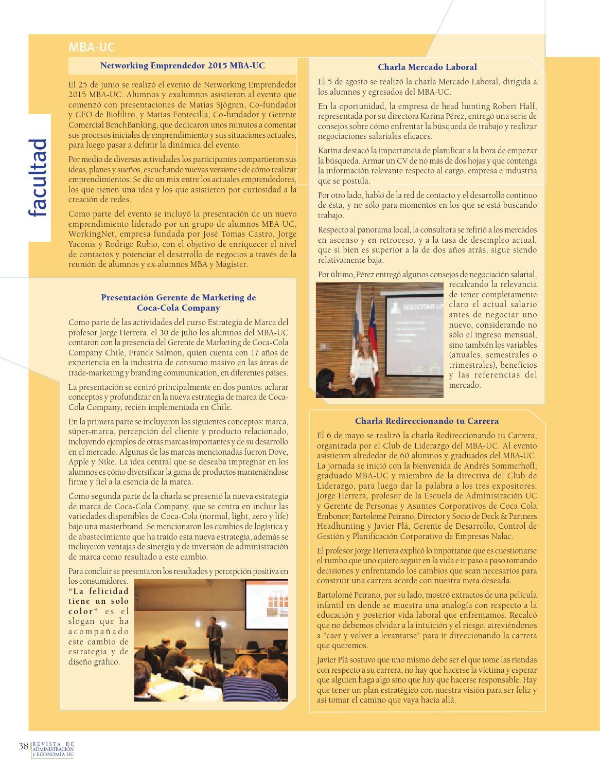 Revista de Administración y Economía UC #81 by Facultad de Ciencias ...