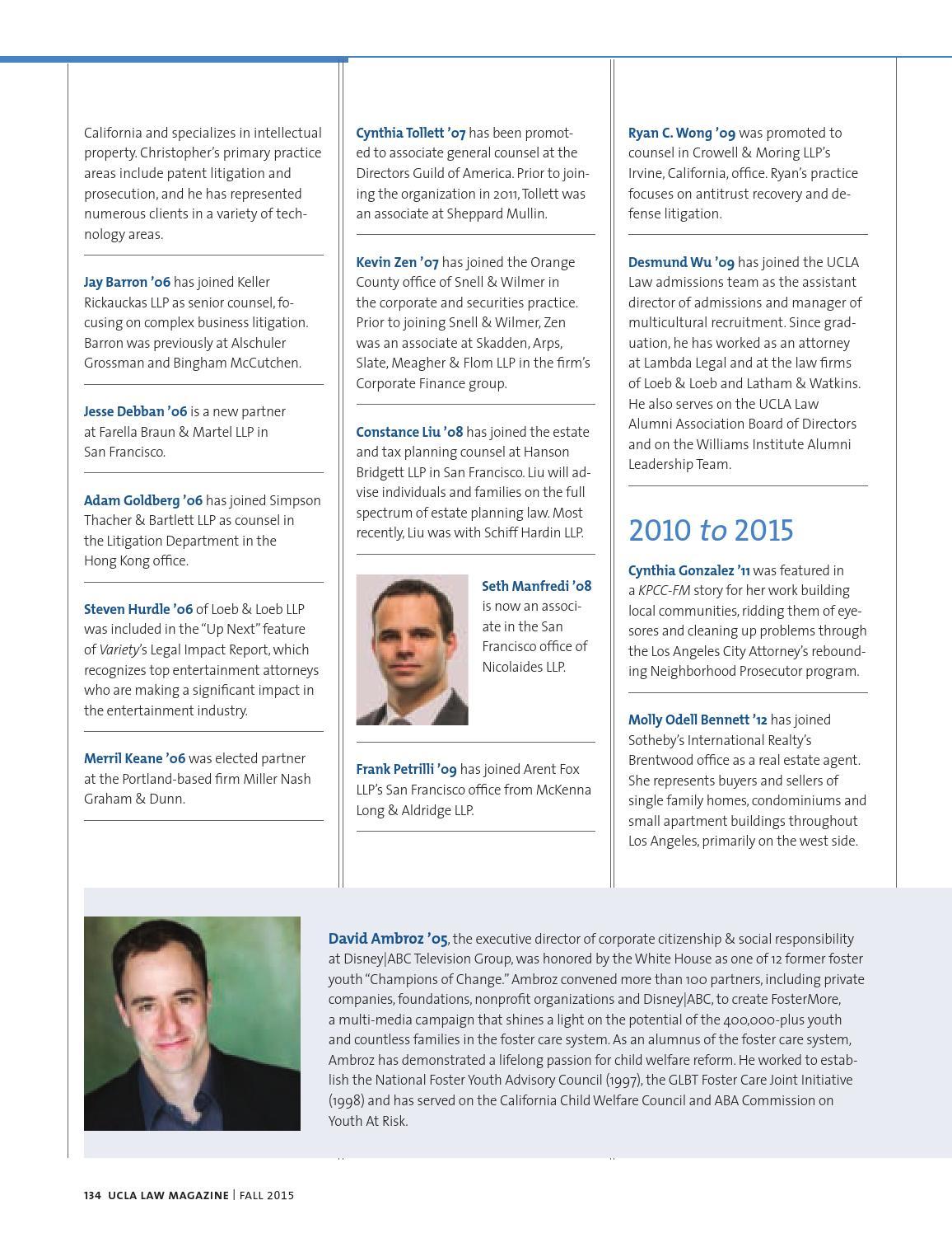 UCLA Law Magazine 2015 by UCLA Law - issuu