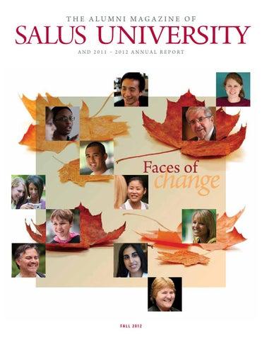 38433cc6c93 Salus University Alumni Magazine   Annual Report - Fall 2012 by ...