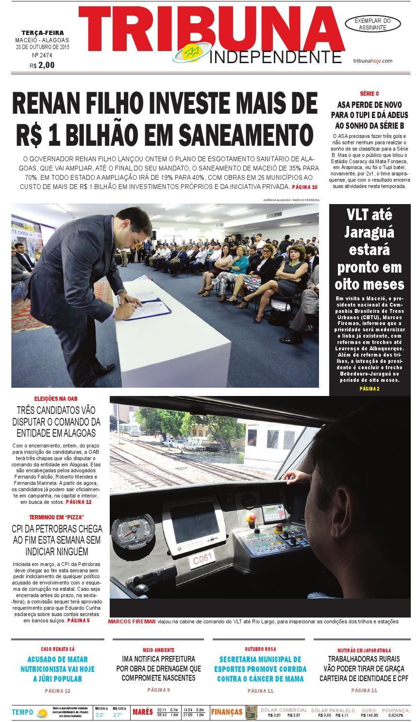 11f5e0d77db2e Edição número 2474 - 20 de outubro de 2015 by Tribuna Hoje - issuu