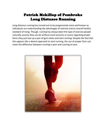 how to run long distance proper form