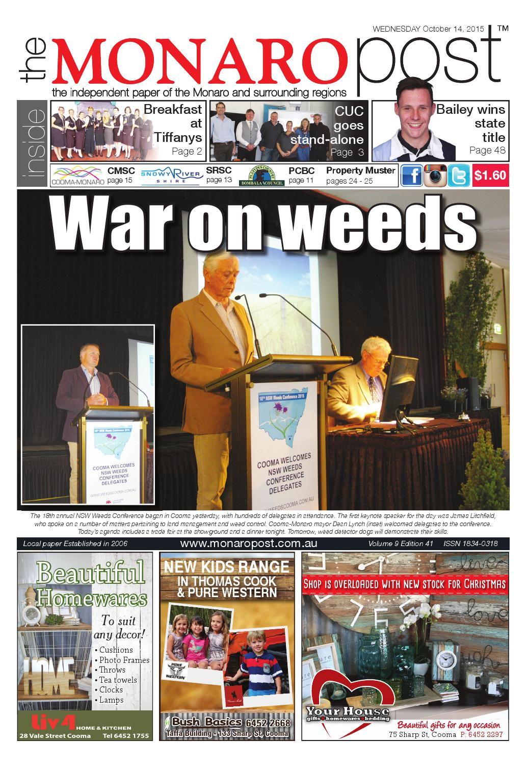 The Monaro Post October 14, 2015 by Monaro Post - issuu