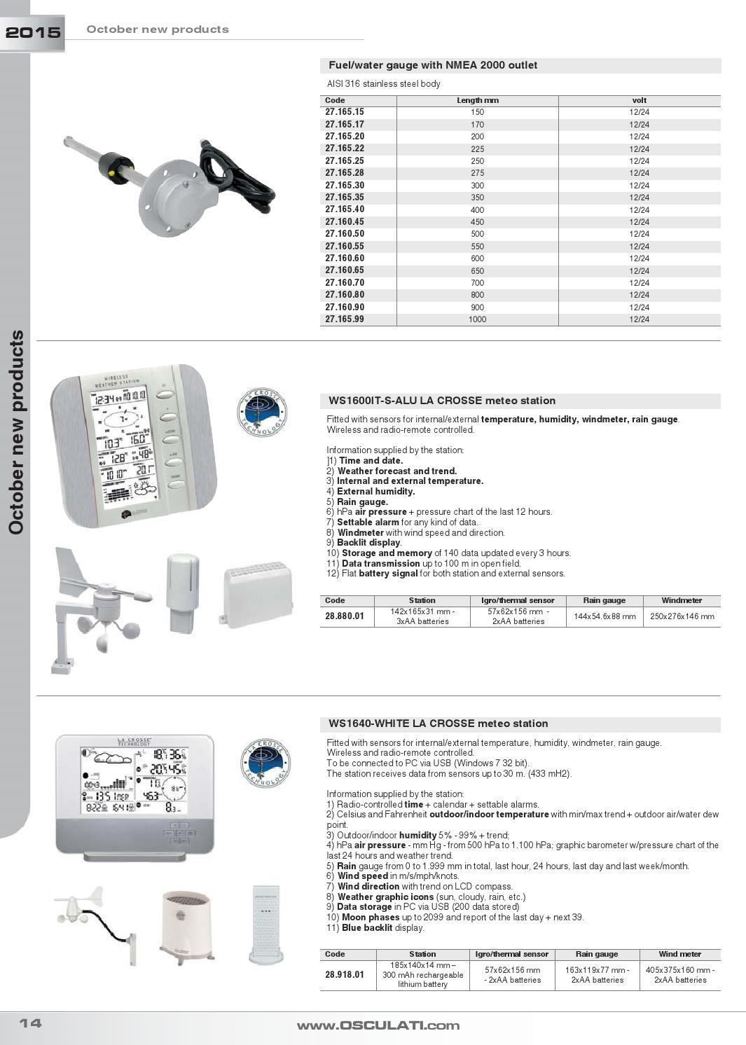 OSCULATI Fuel Level Sensor Nmea 2000 550 mm