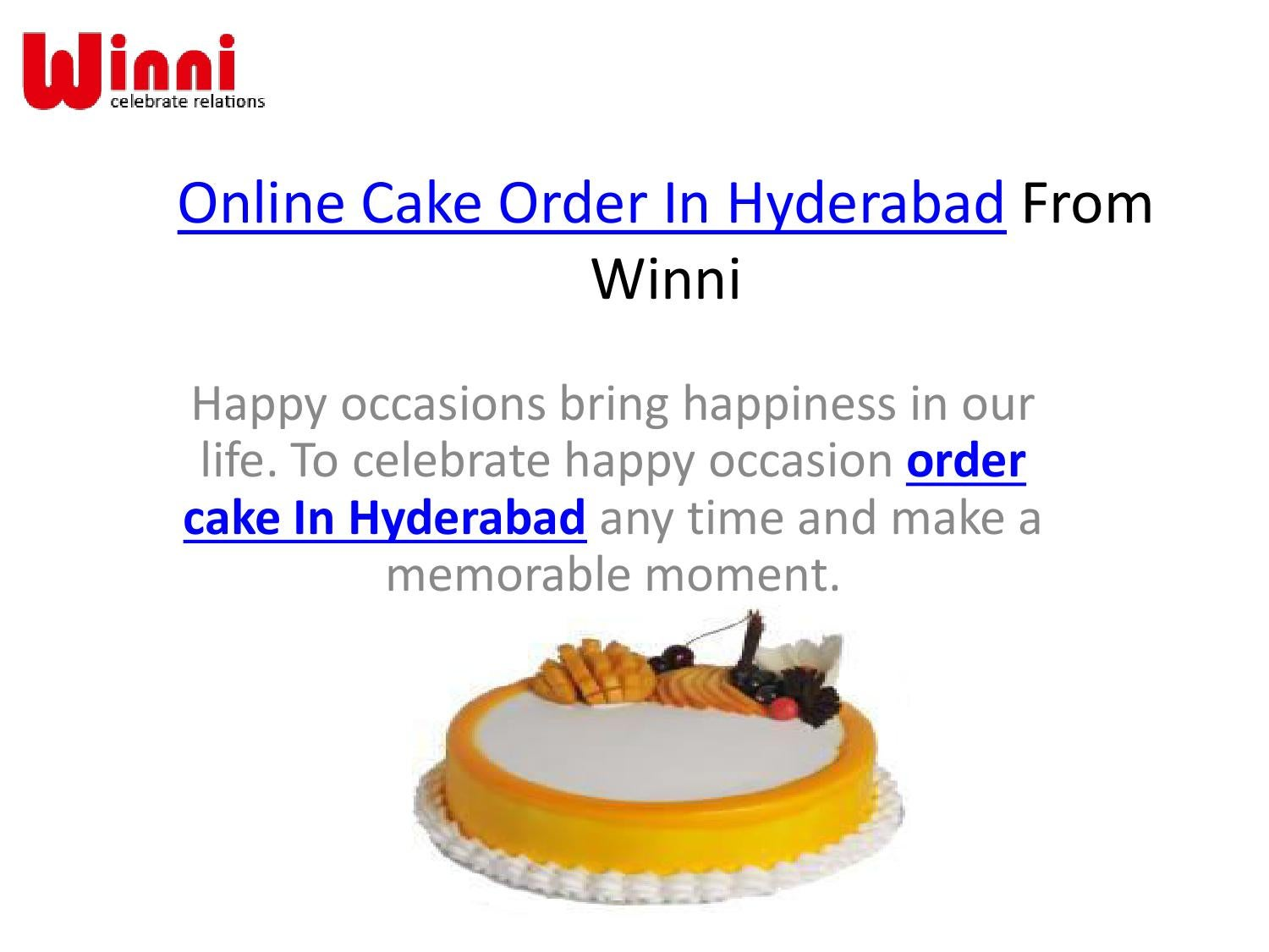 Order Online Cake In Hyderabad From Winni By Winniin