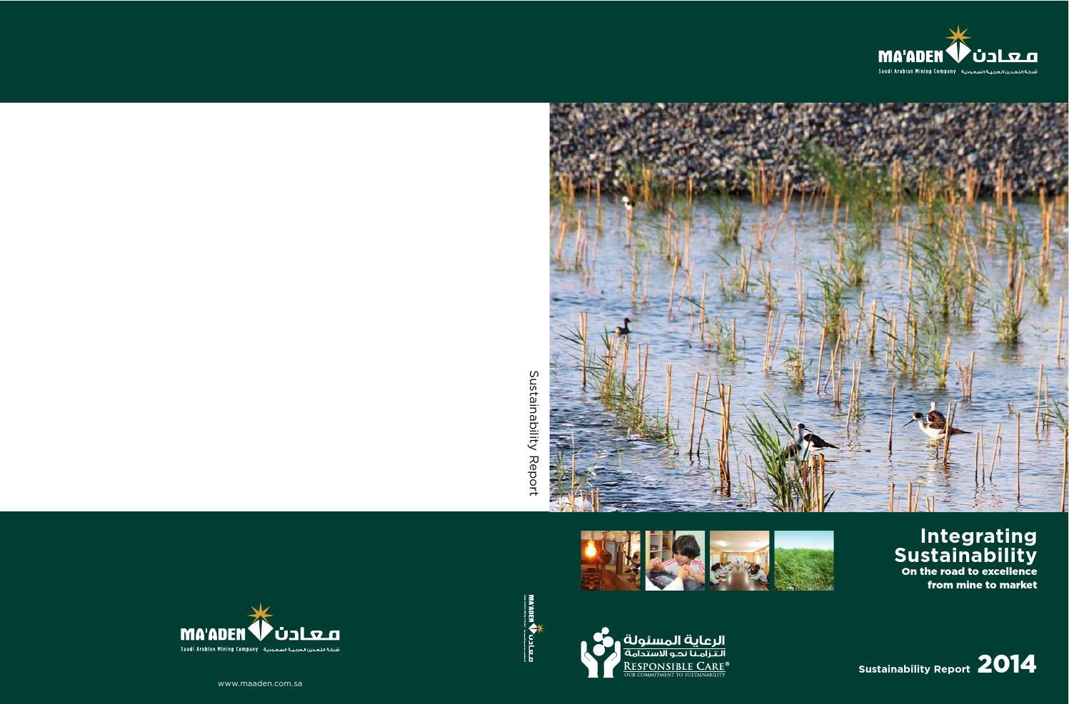 2014 Sustainability Report by Maaden - Saudi Arabian Mining