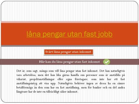 micro lån utan jobb