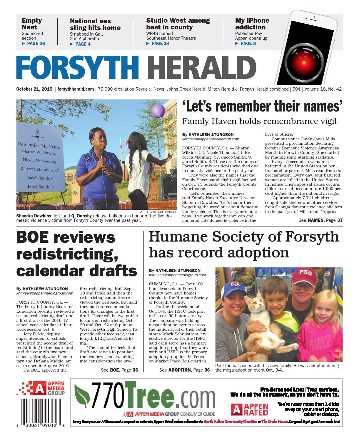 Forsyth Herald, October 21, 2015 by Appen Media Group - issuu