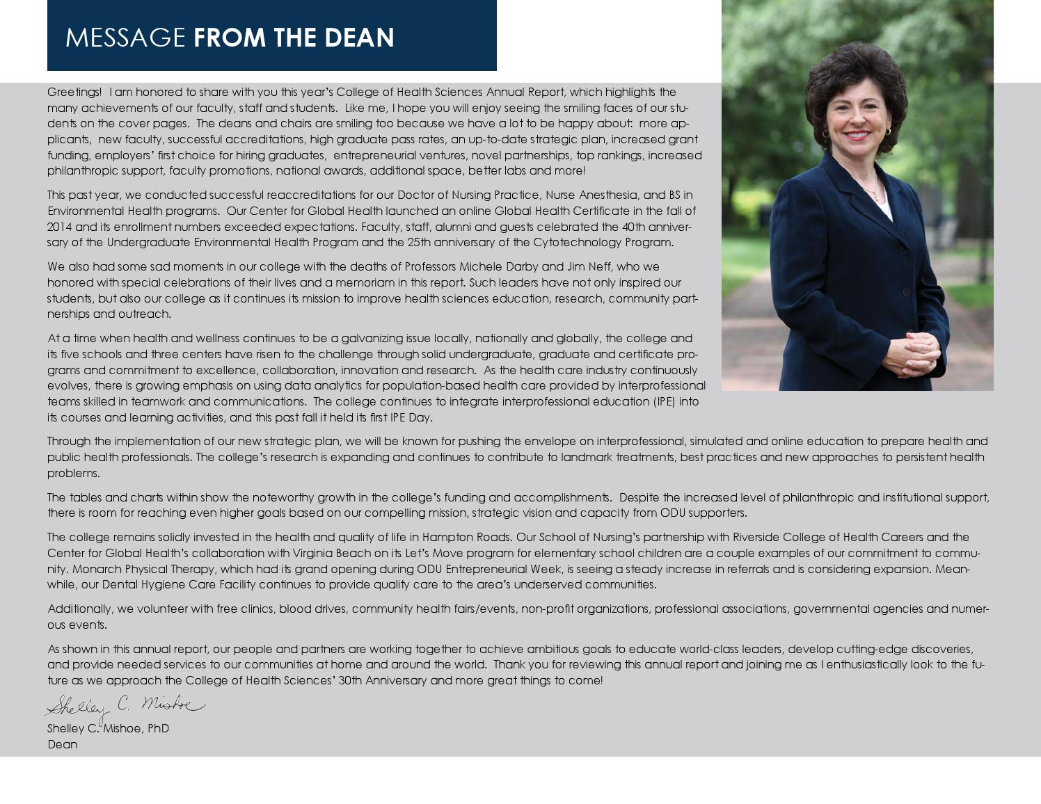 College Of Health Sciences By Old Dominion University Issuu