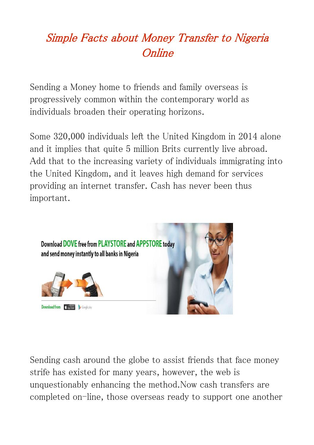 Money Transfer To Nigeria By Prepayment