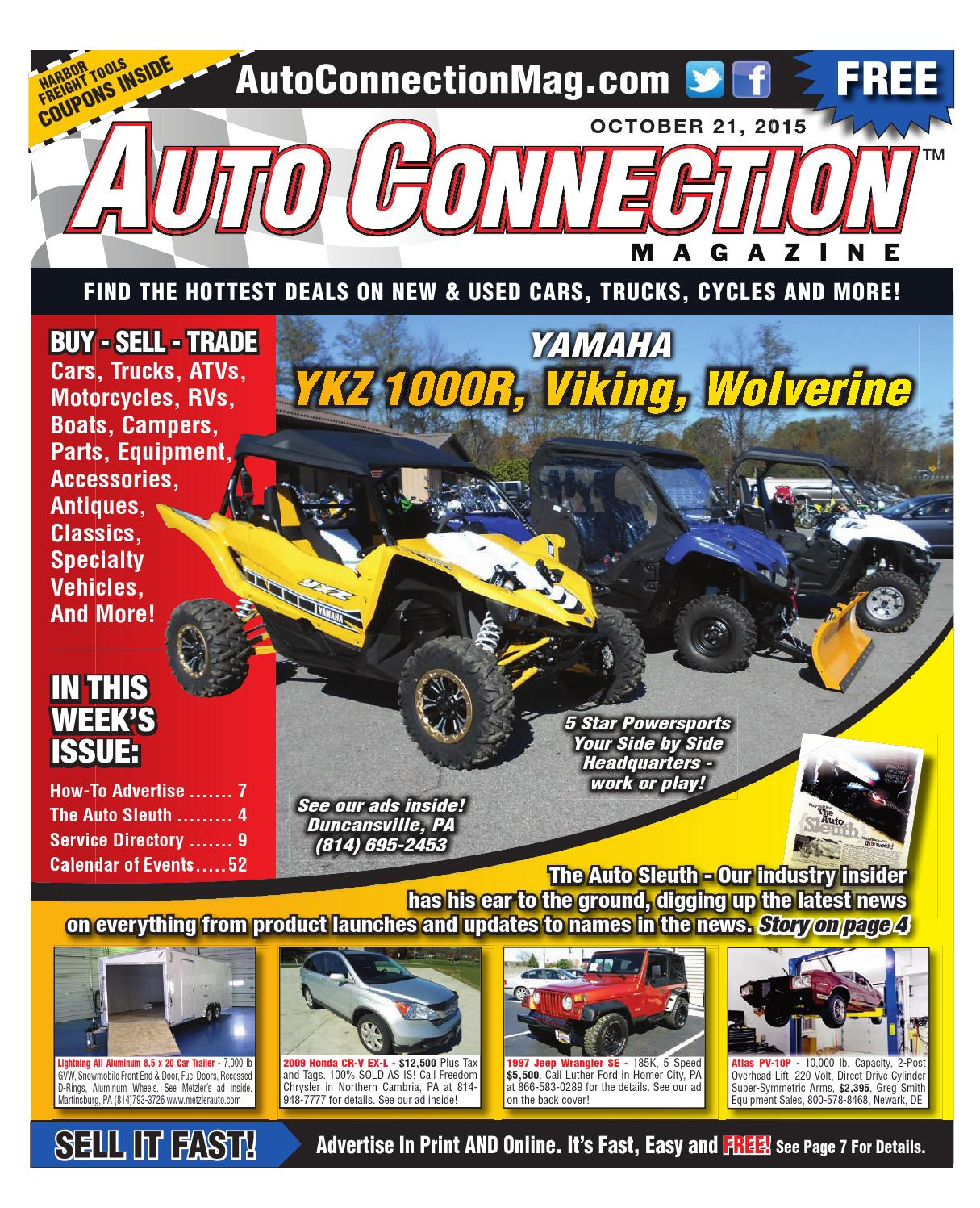 10-21-15 Auto Connection Magazine by Auto Connection Magazine - issuu