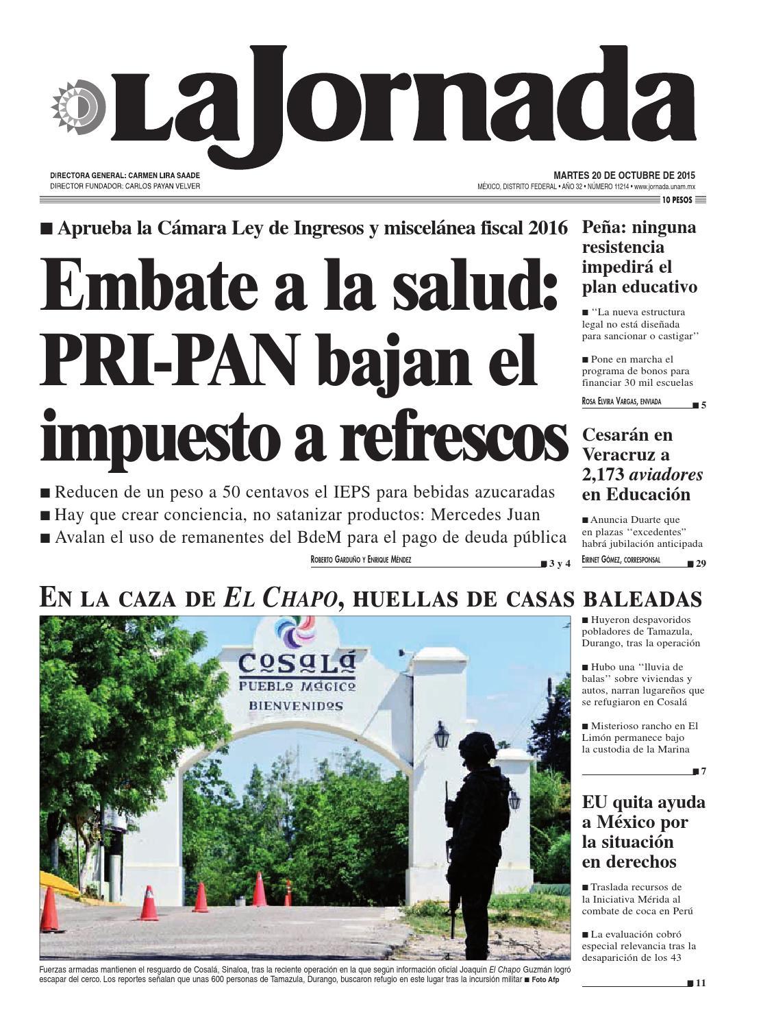 La Jornada, 10/20/2015 by La Jornada: DEMOS Desarrollo de Medios SA ...