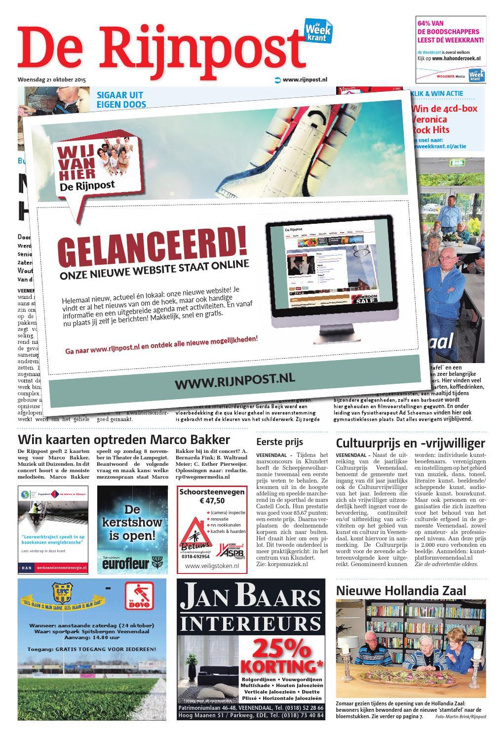 De Rijnpost week43 by Wegener - issuu