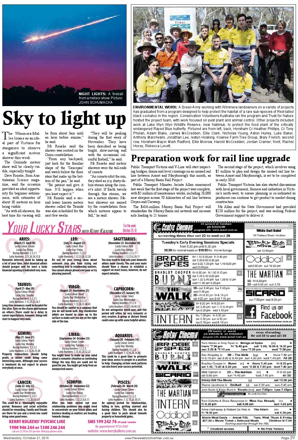 The Weekly Advertiser - Wednesday, October 21, 2015 by The