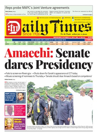 Dtn 21 10 15 By Daily Times Of Nigeria Issuu