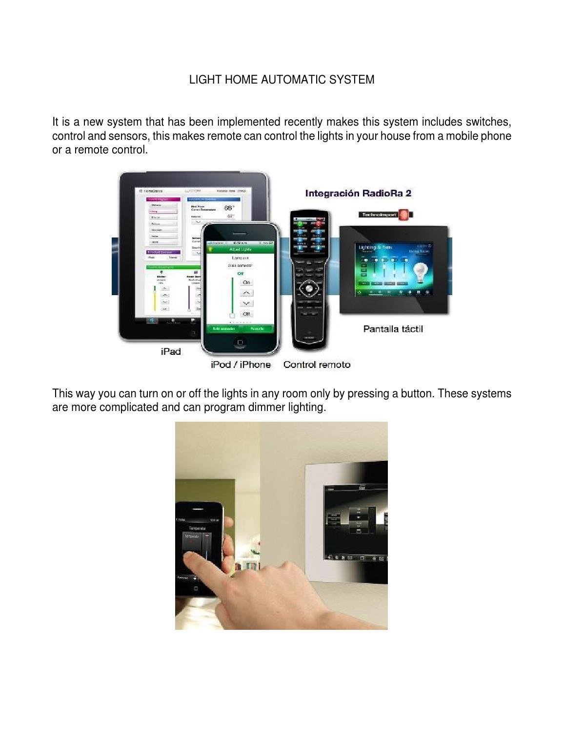 Light Home Automatic System 11 By Mariadanna Issuu Radiora 2 3 Way Switch