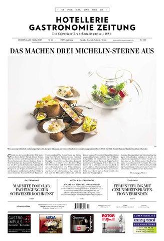 HG Zeitung 33 2015 By Hotellerie Gastronomie Verlag