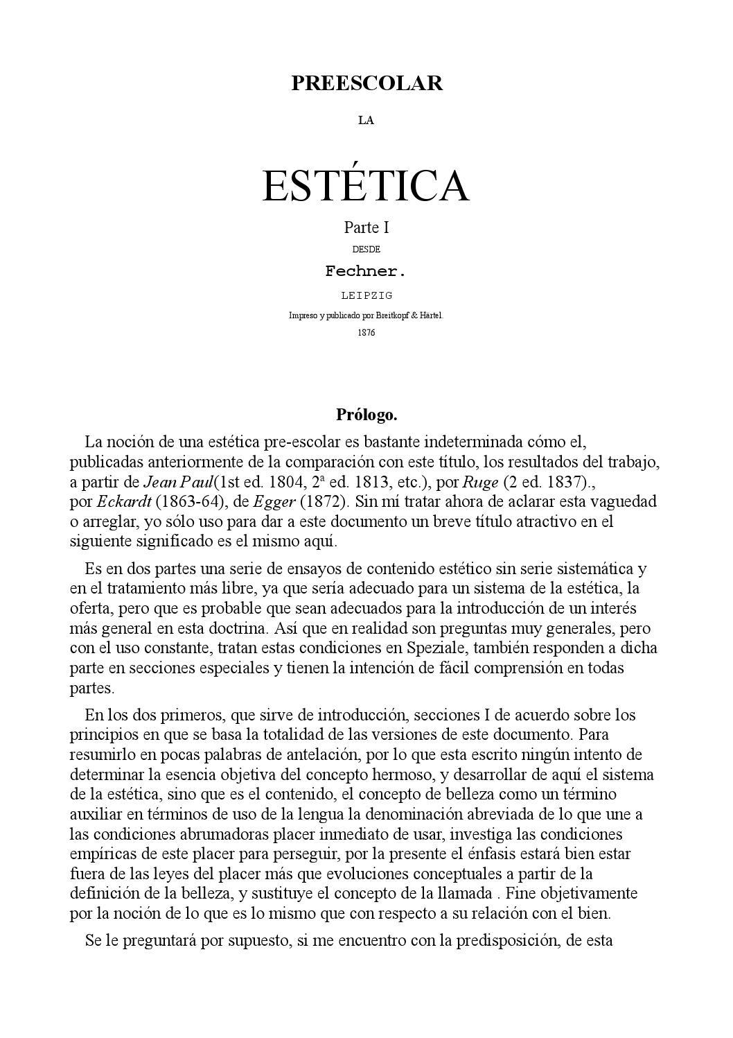 Preescolar la estética 01 castellano gustav theodor fechner by ...