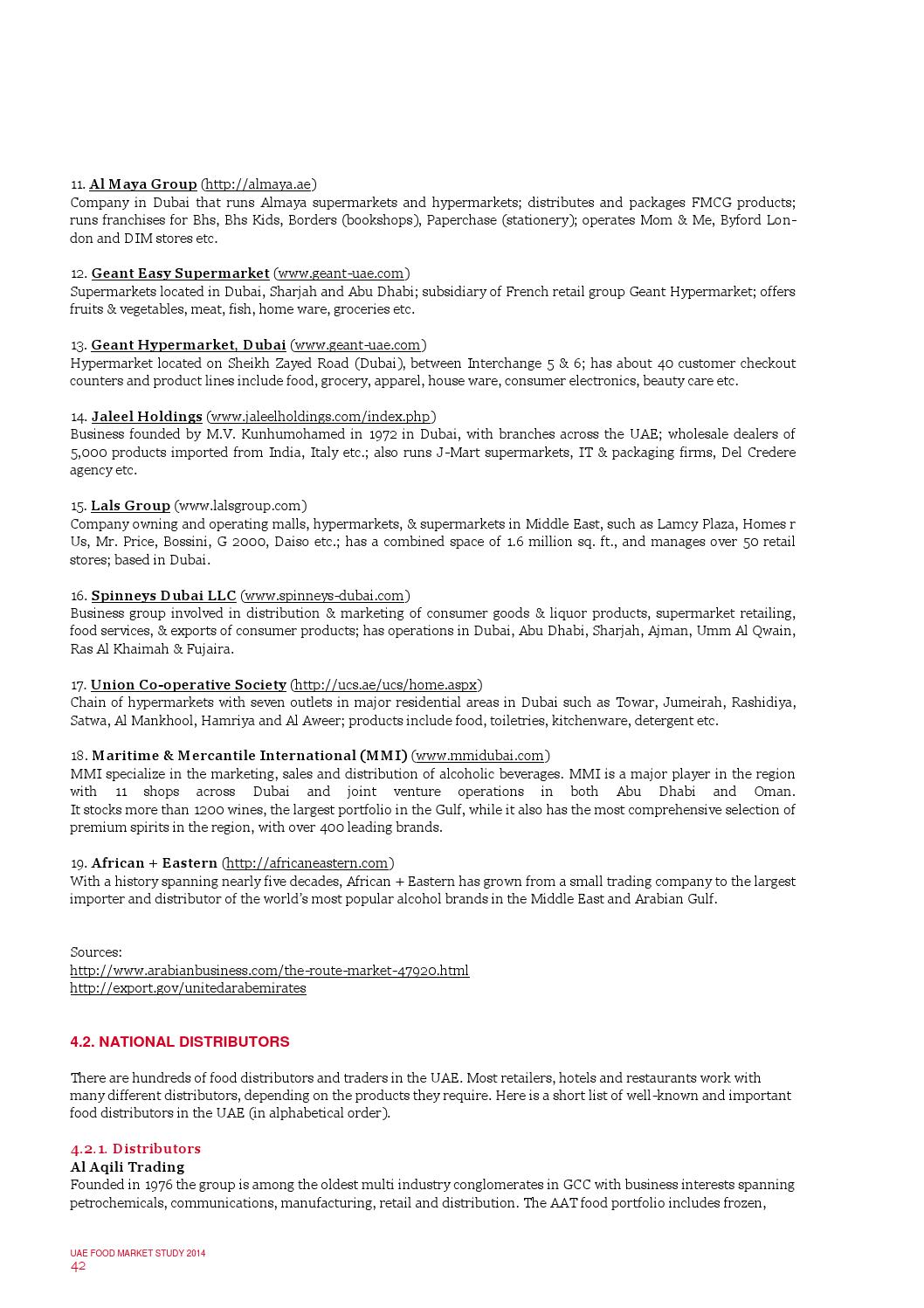 Bbk uae the uae food market 09 2014 by Switzerland Global Enterprise
