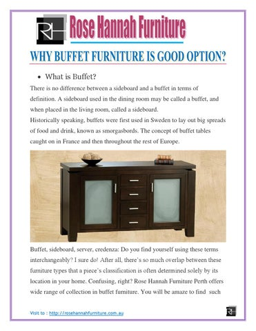 What Is Buffet? There Is No Difference Between A Sideboard And A Buffet In  Terms Of Definition. A Sideboard Used In The Dining Room May Be Called A  Buffet, ...