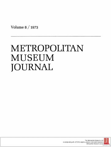 a13ed2099db8 The metropolitan museum journal v.08 1973 by alfonse K - issuu