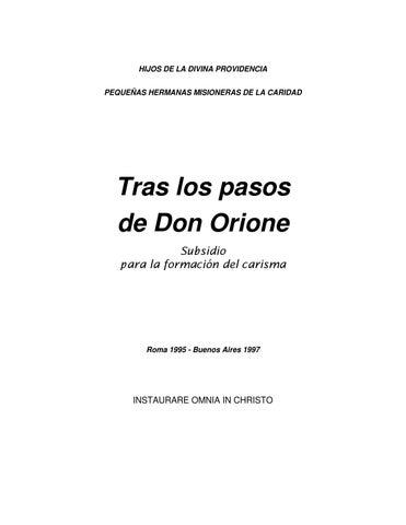 Tras los pasos de Don Orione by Enzo - issuu