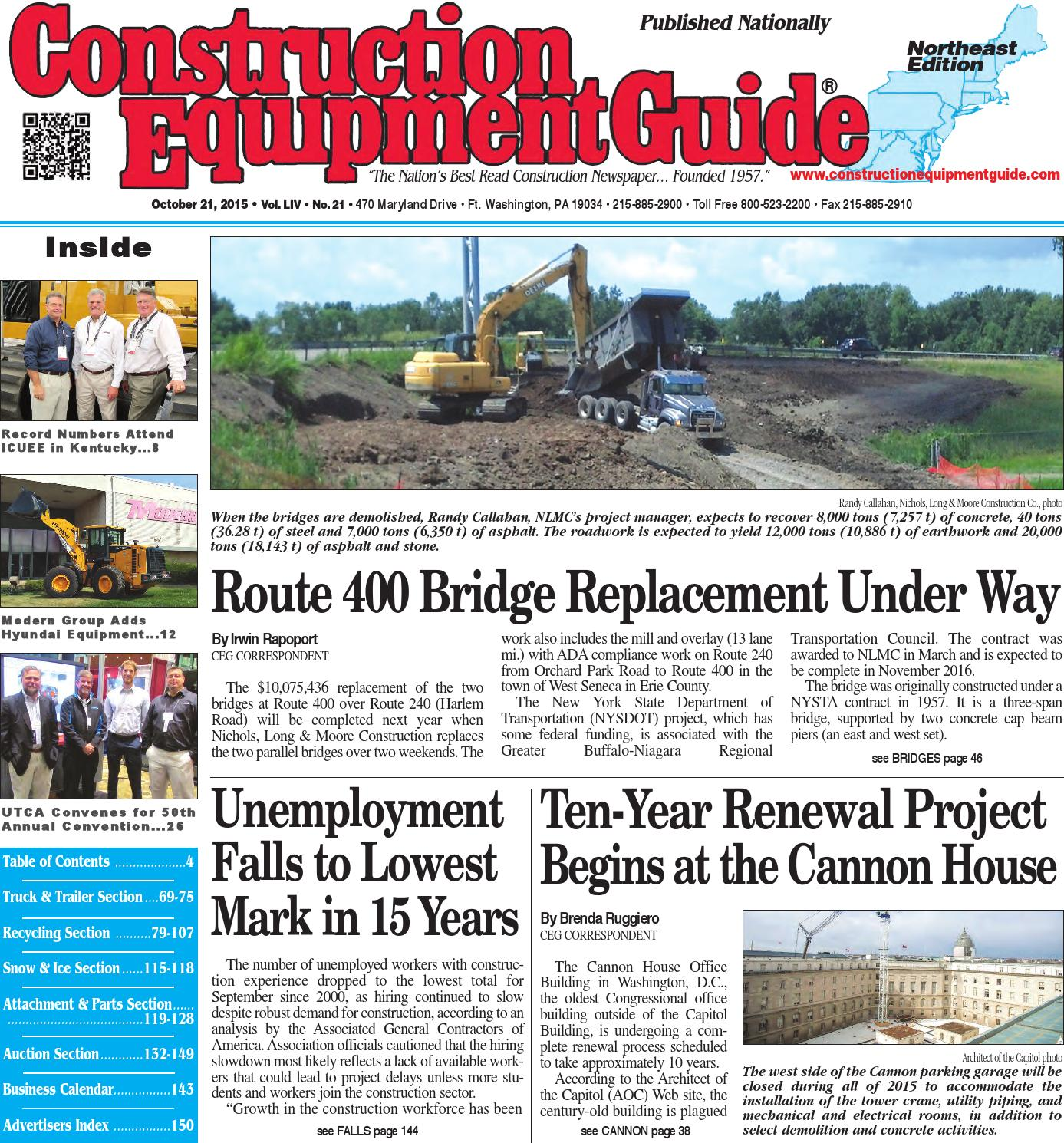 f7a8b5695d45 Northeast 21 2015 by Construction Equipment Guide - issuu