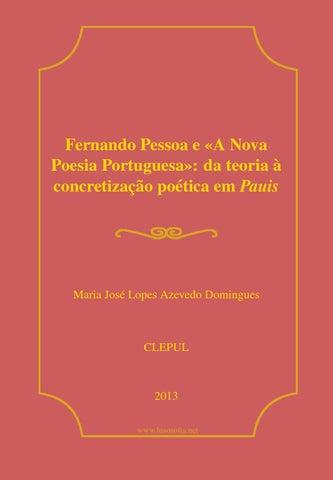 Fernando Pessoa E A Nova Poesia Portuguesa Da Teoria à