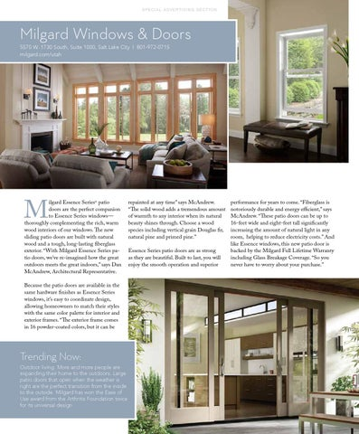 milgard windows utah doors page 72 special advertising section milgard windows utah style design fall 2015 by issuu