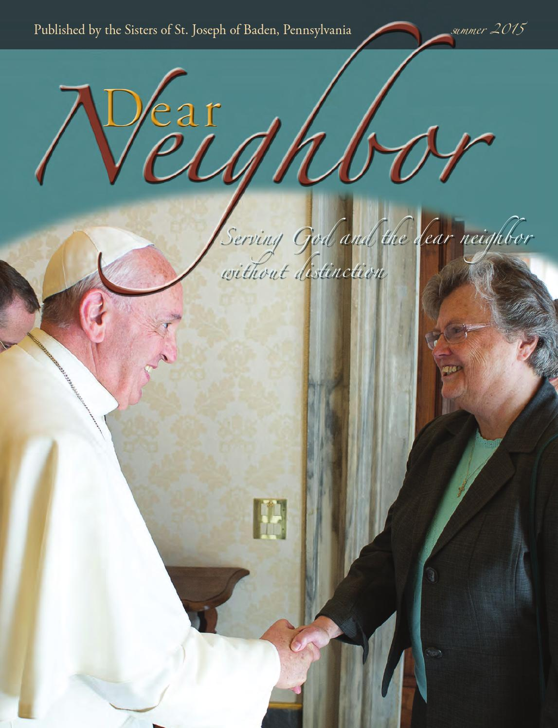 dear neighbor summer 2015 by sisters of st  joseph of