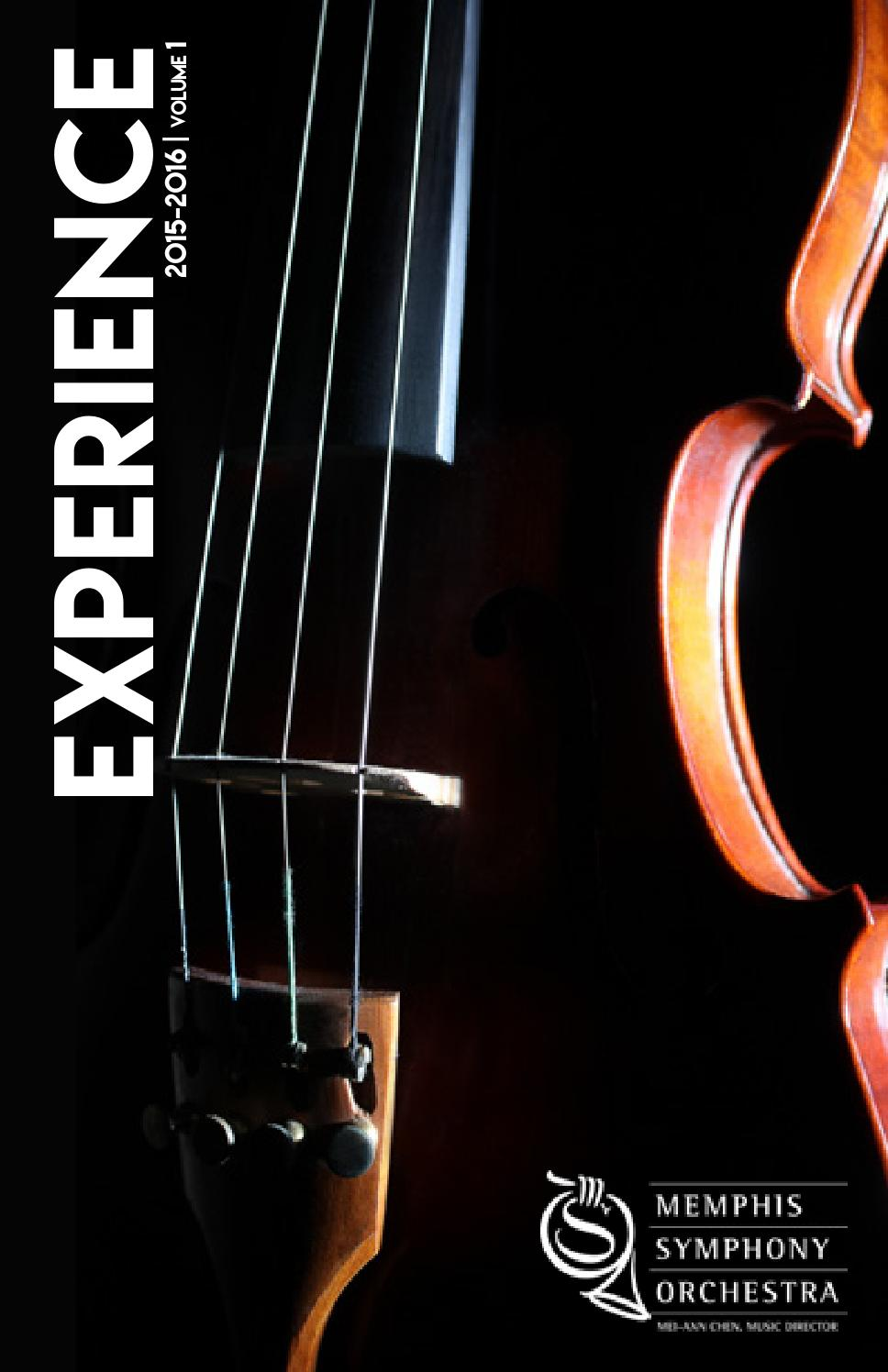 Mso Experience Magazine Fall 2015 By Memphis Symphony Issuu