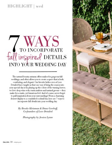 Page 30 of 7 Ways to Incorporate Fall Inspired Details Into Your Wedding Day