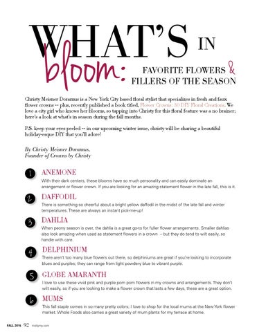 Page 92 of What's in Bloom: Favorite Flowers & Fillers of the Season