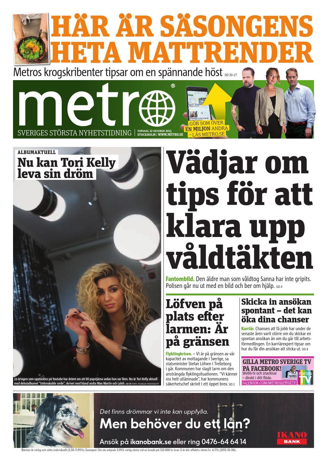 20151022 se stockholm by Metro Sweden - issuu c199b81e029d8