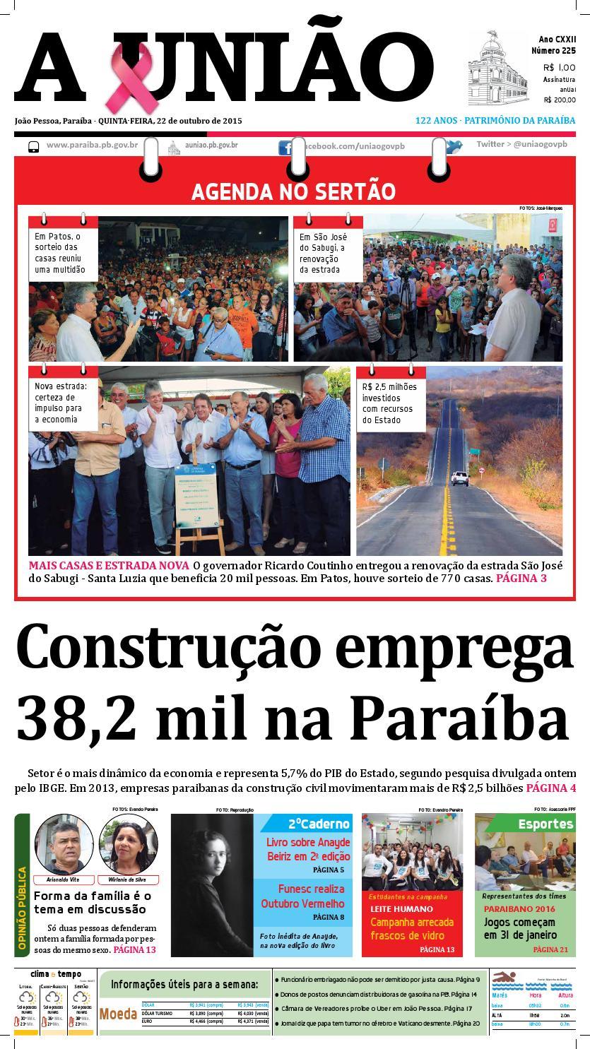 Jornal A União - 22 10 2015 by Jornal A União - issuu a34aeca0de383
