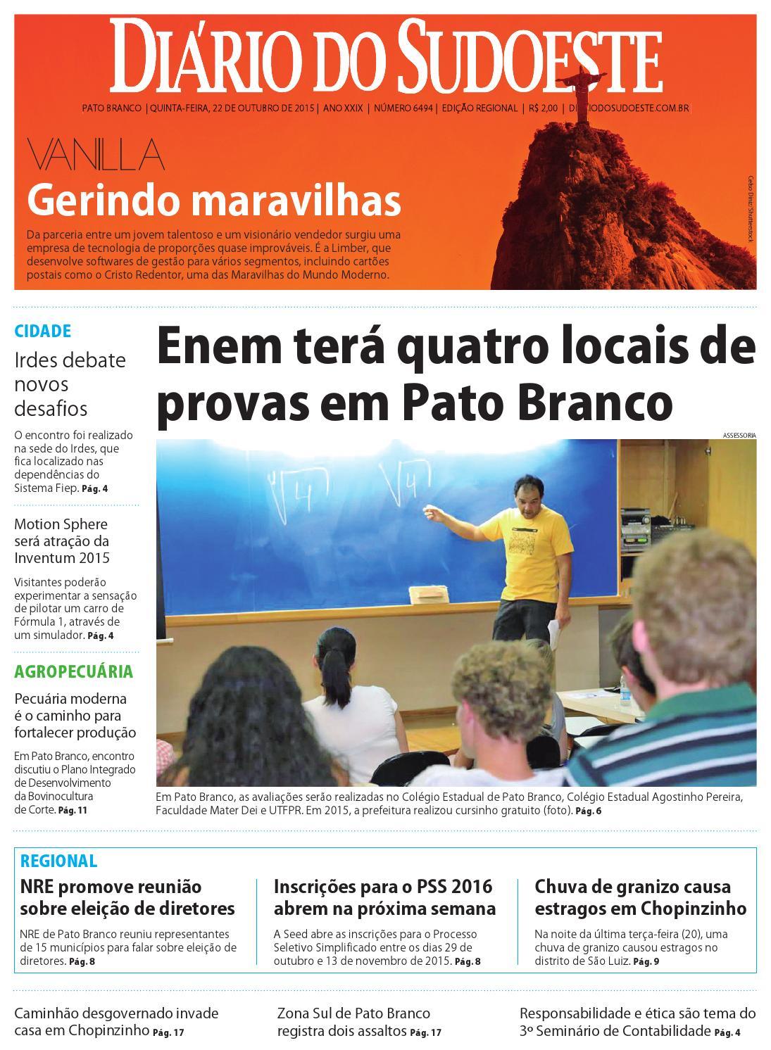 Diário do sudoeste 22 de outubro de 2015 ed 6494 by Diário do Sudoeste -  issuu 1a1576c002d7a