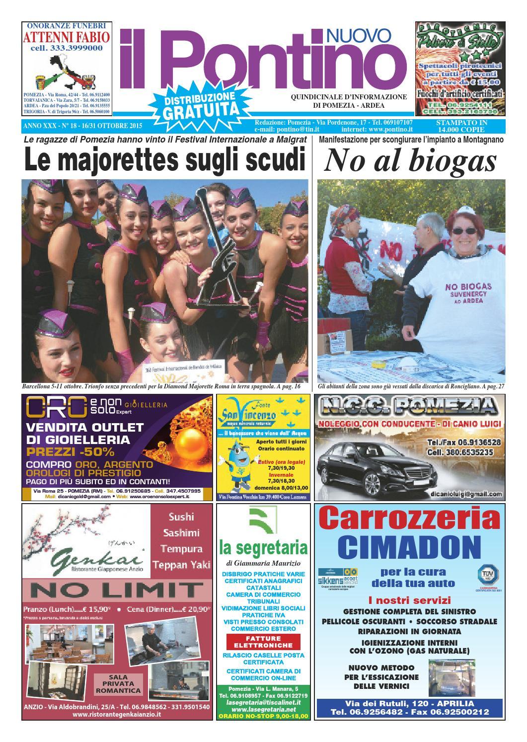 Il Pontino Nuovo - Anno XXX - n. 18 - 16 31 Ottobre 2015 by Il ... dafd1b9cdde