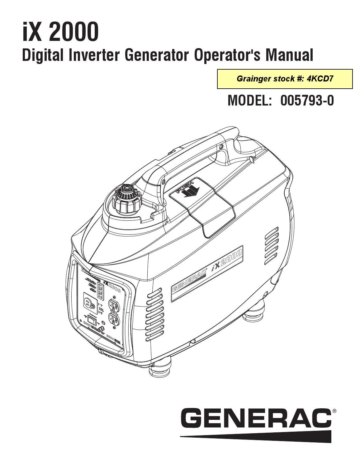 Generac Ix2000 Manual By Popunder Net Issuu