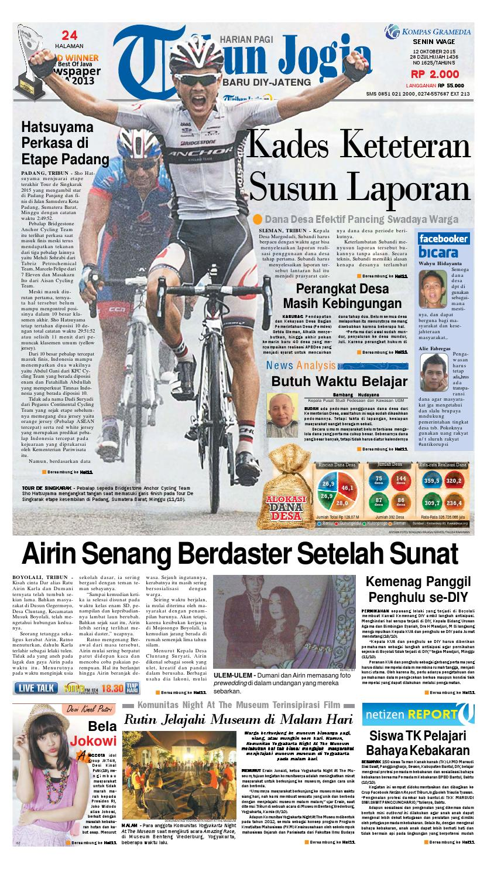 Tribunjogja 12 10 2015 By Tribun Jogja Issuu Tcash Vaganza 36 Produk Ukm Bumn Batik Print Motif3