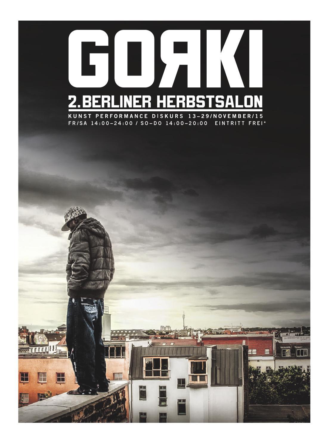 Gorki Sonderheft Herbstsalon by Maxim Gorki Theater - issuu