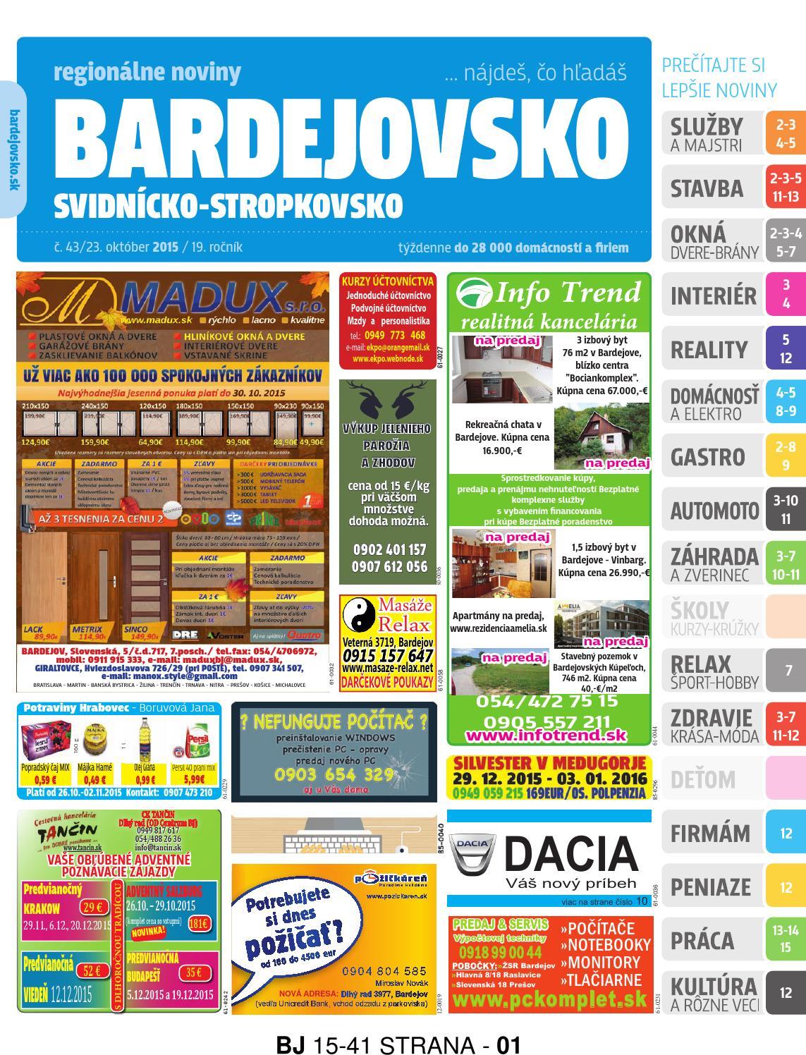1409acf77af0 Bj1543 by REGIONPRESS - Bardejovsko - issuu