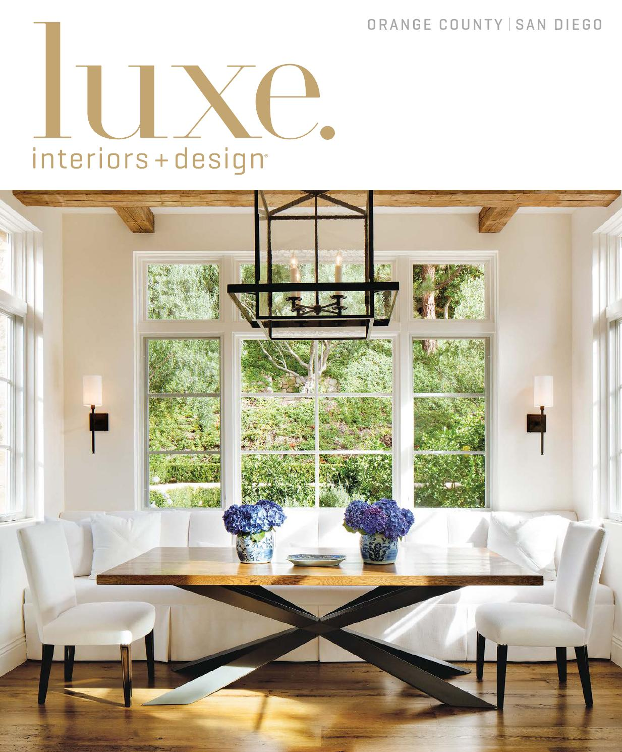 Luxe Magazine November 2015 Orange County San Diego By SANDOWR