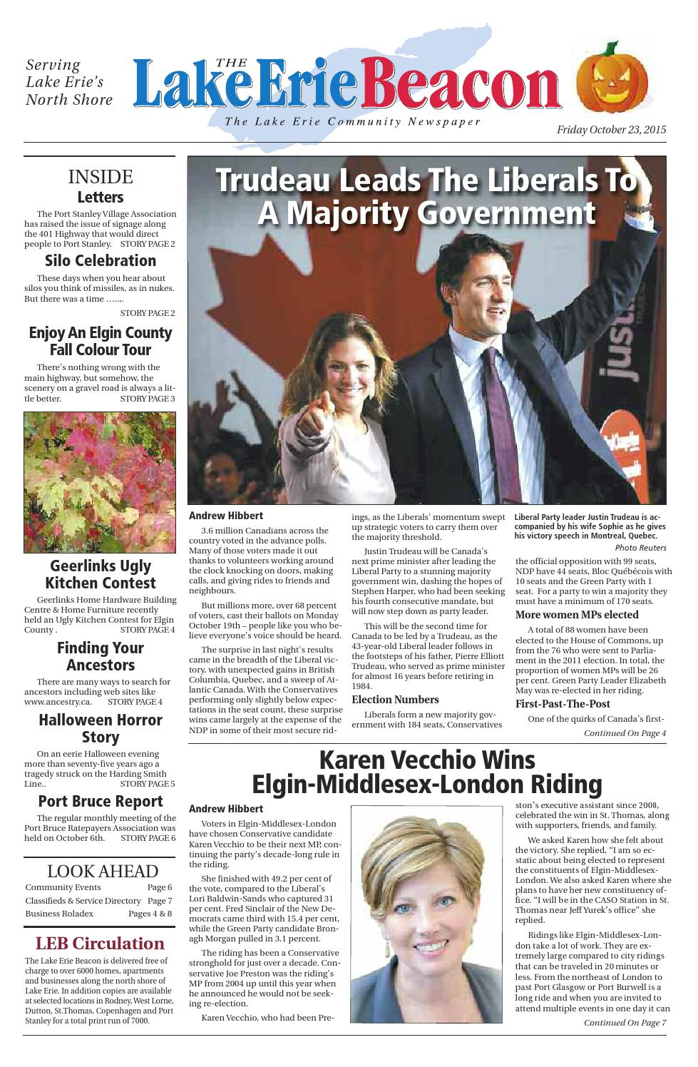 . The Lake Erie Beacon October 23 2015 by Linda Hibbert   issuu