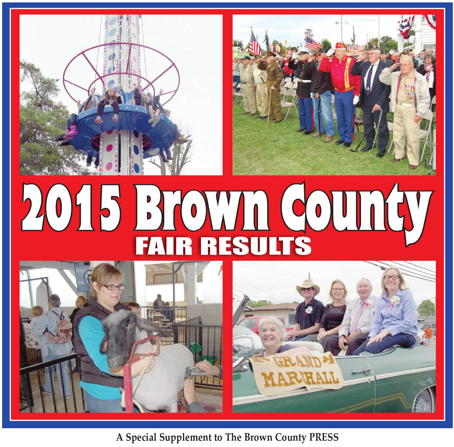 Brown co fair results 2015 by Clermont Sun Publishing Company - issuu