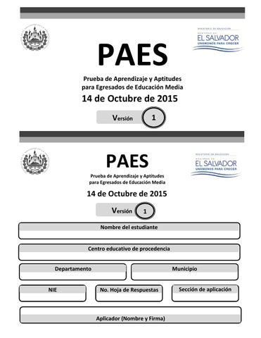 PAES 2015 Matemática y Estudios Sociales by LPG Multimedia - La ...
