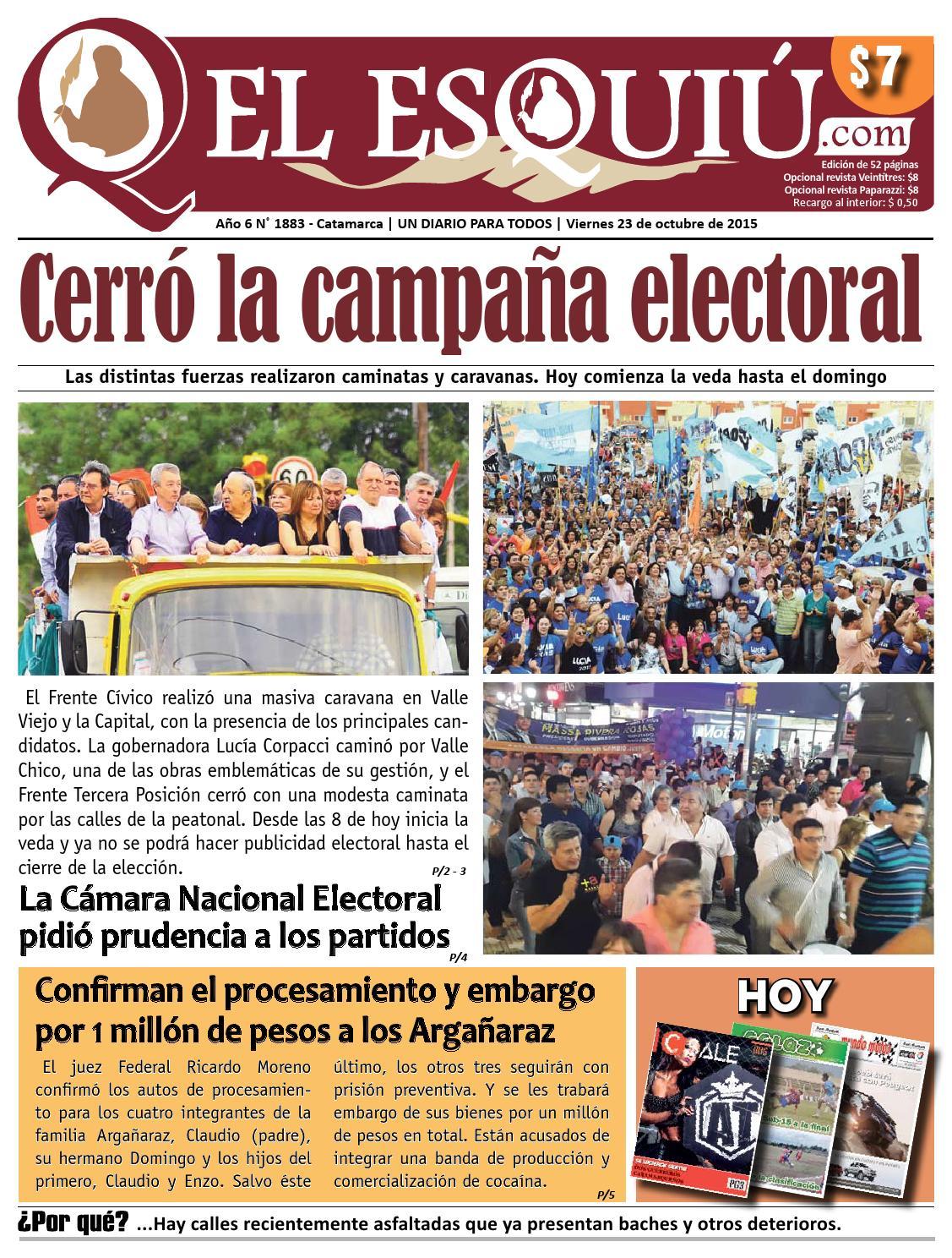 El Esquiu Com Viernes 23 De Octubre De 2015 By Editorial El  # Muebles Juampy Tigre