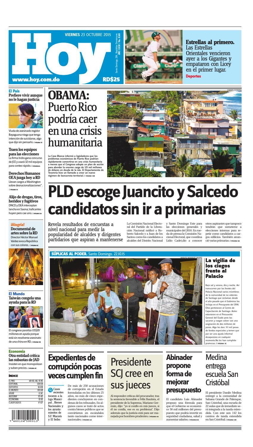 timeless design 112b7 edf90 Periódico 23 de octubre, 2015 by Periodico Hoy - issuu